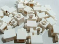 LEGO Parts NEW Pack of 4 Brick 1x1 with Clip Vertical 30241b WHITE