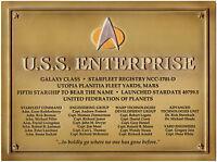 Enterprise NCC 1701-D - Star Trek Plakette -  Dedication Plaque Replica neu