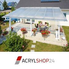 Komplettdach / Terrassendach aus 16mm Stegplatten klar, opal oder bronce