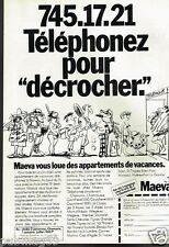 Publicité advertising 1982 Location de vacances Maeva