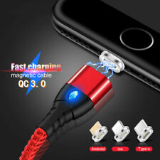 3A Quick Magnetic Type C Micro USB Charger Data Sync Charging Cord Phone Cable