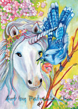 """/"""" Spring Goddess/"""" 5x7 Limited Edition Print Floral Fantasy Theme Art by Patricia"""