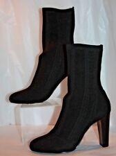 Charles By Charles David Shirley Black herringbone stretch boots  women's 7 b