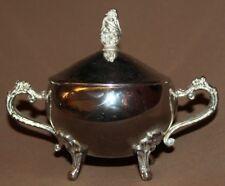 Vintage ornate metal footed sugar bowl