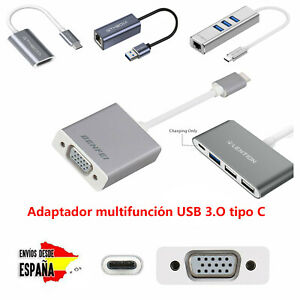 USB Tipo C Adaptador de estilo múltiple Convertidor VGA 1080P HDMI ETHERNET RJ45