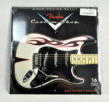 NEW!!! FENDER 2012 CALENDAR / Posters Custom Shop Photos 16 Month 12 x 12 closed