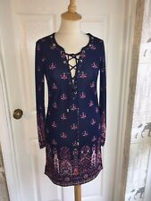 BNWT Juicy Couture Bazaar Print Lace Up  Dress - Size 6. XS