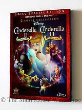 Cinderella 2 & 3 II & III Double Feature DVD & Blu-ray with Reflective Slipcover