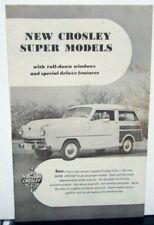 1947 1948 Crosley Original Color Brochure Catalog Prospekt