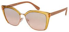 Prada Sunglasses PR 56TS MQH204 57 Transparent Rose Frame | Brown Gradient Lens