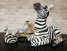 Lot of 3 resin zebra figurines beautiful collection Rare