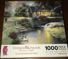 "CEACO THOMAS KINKADE STILLWATER COTTAGE 1000 PC JIGSAW PUZZLE 27"" X 20"" FREE SH"