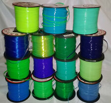 15 YDs Rexlace Gimp Boondoggle Plastic Lace ~ 15 NICE Green & Blues ~ 1 YD Each