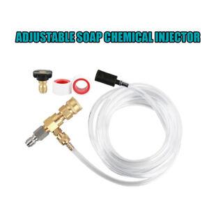 High Pressure Adjustable Soap Chemical Injector Dispenser Nozzle Kit 5m Hose