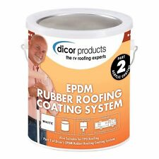 Dicor RP-CRC-1 EPDM Rubber Roof Acrylic Coating 4 Gallons and 4 Quarts Cleaner