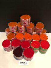 22~Spinning Wheel/Bucilla 100% Acrylic Latch Hook Rug Yarn Assorted Color Lot #5