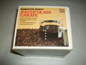 Hamilton Beach Glass Carafe Model 171 NOS 2-4 Cup Coffee Pitcher-NEW- Ships FREE