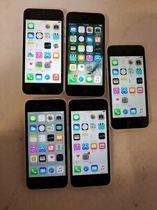 Apple iPhone 5c - 16GB - White (ATT) LOT OF 5