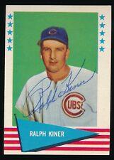 1961 Fleer Autographed -#50 Ralph Kiner (Pittsburgh Pirates) *Hof* (d.2014)