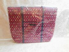 Vera Bradley Trimmed Vera- Retired Prints Katalina Pink Diamonds With Navy