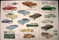 1953 Chevrolet Bel Air Two Ten One Fifty Models Sales Folder No Print Date Orig