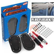 New Universal Matte Black D1 GENERATION Car Flush Kit Bonnet Hood Pin Lock Key