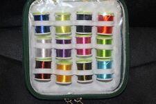 FLY tying caso di 12 grandi Rocchetti Rayon USA diversi colori