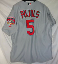 St Louis Cardinals ALBERT PUJOLS Bush Stadium Patch MLB Baseball Jersey 48