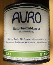 Bio Lasur  Biofarbe AURO Naturharzöl-Lasur  Nr.130-21 ultrmarinblau  0,25 Liter