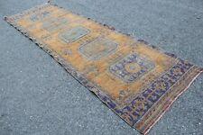 """Vintage Handmade Turkish Oushak Office Runner Rug 11'9""""x3'8"""""""