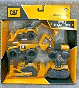 CAT LITTLE MACHINES  5 - PACK ~  CONSTRUCTION EQUIPMENT ~ NEW