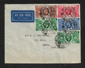 UK TO KENYA AIR MAIL COVER 1935