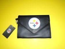 Pittsburgh Steelers NFL Women's Black Gibson Clutch Wallet