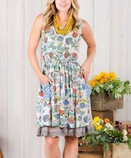 Sleeveless Dress Size 10 Floral With Pockets