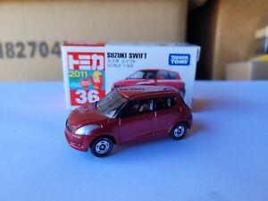 TOMICA 36 - SUZUKI SWIFT [RED] VHTF MINT BOX GOOD CHINA COMBINED POST