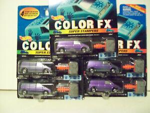 Hot Wheels FORD AEROSTAR  LOT of 5) HTF COLOR FX Super Stampers