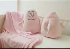 Cute BARBAPAPA Large Fleece Blanket Plush Doll 2 In 1 for Travel Home Xmas Gift