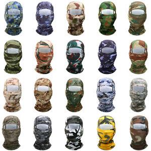 Camo Balaclava Face Mask UV Protection Ski Sun Hood Tactical Masks for Men Women