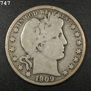 1909-O Barber Half Dollar *Free S/H After 1st Item*
