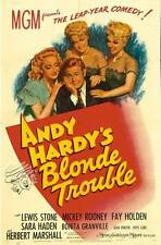 ANDY HARDY'S BLONDE TROUBLE Movie POSTER 27x40