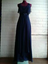 WAYNE COOPER navy blue formal full length cocktail Dress Size 8