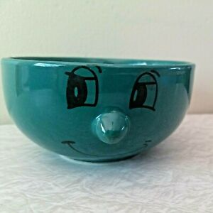 Livingware Collection Hunter Green 3D Funny Face Cereal Ice Cream Bowl