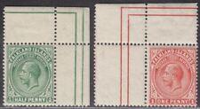 Falkland Islands 1912 King George V ½d, 1d Corner Marginal Mint
