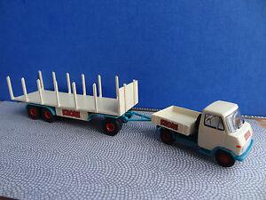 Brekina 37606 Circus Krone Hanomag Zugmaschine mit Rungenanhänger 1:87
