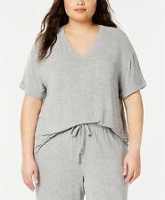 Alfani Womens Modal Blend Short Sleeves Pajama Top//Nightshirt Gray S