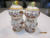 Vintage Brown Onion Salt & Pepper Shaker Set Imported By Arnart--Japan