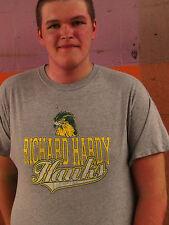 RICHARD HARDY HAWKS Worn Gray Cotton Blend Size 2XL T-Shirt