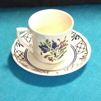 PROVINCIAL PATTERN PORCELAIN TEA CUP AND SAUCER MADE IN ENGLAND BY JOHNSON BROS