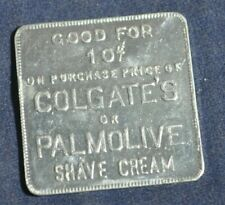 10 Cents Off Colgates or Palmolive Shave Cream Token