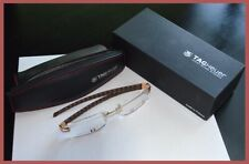 Tag Heuer TH 0152 003 Gold Luxury Eye Glass New Rare Crocodile Leather